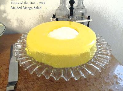 Divasofthedirt, molded mango salad