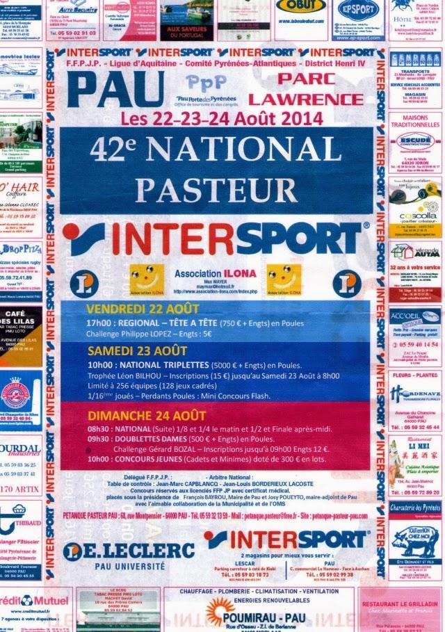 NATIONAL PETANQUE 2014DE PAU-PASTEUR