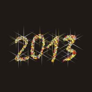 2013 con fondo negro y numeros brillantes