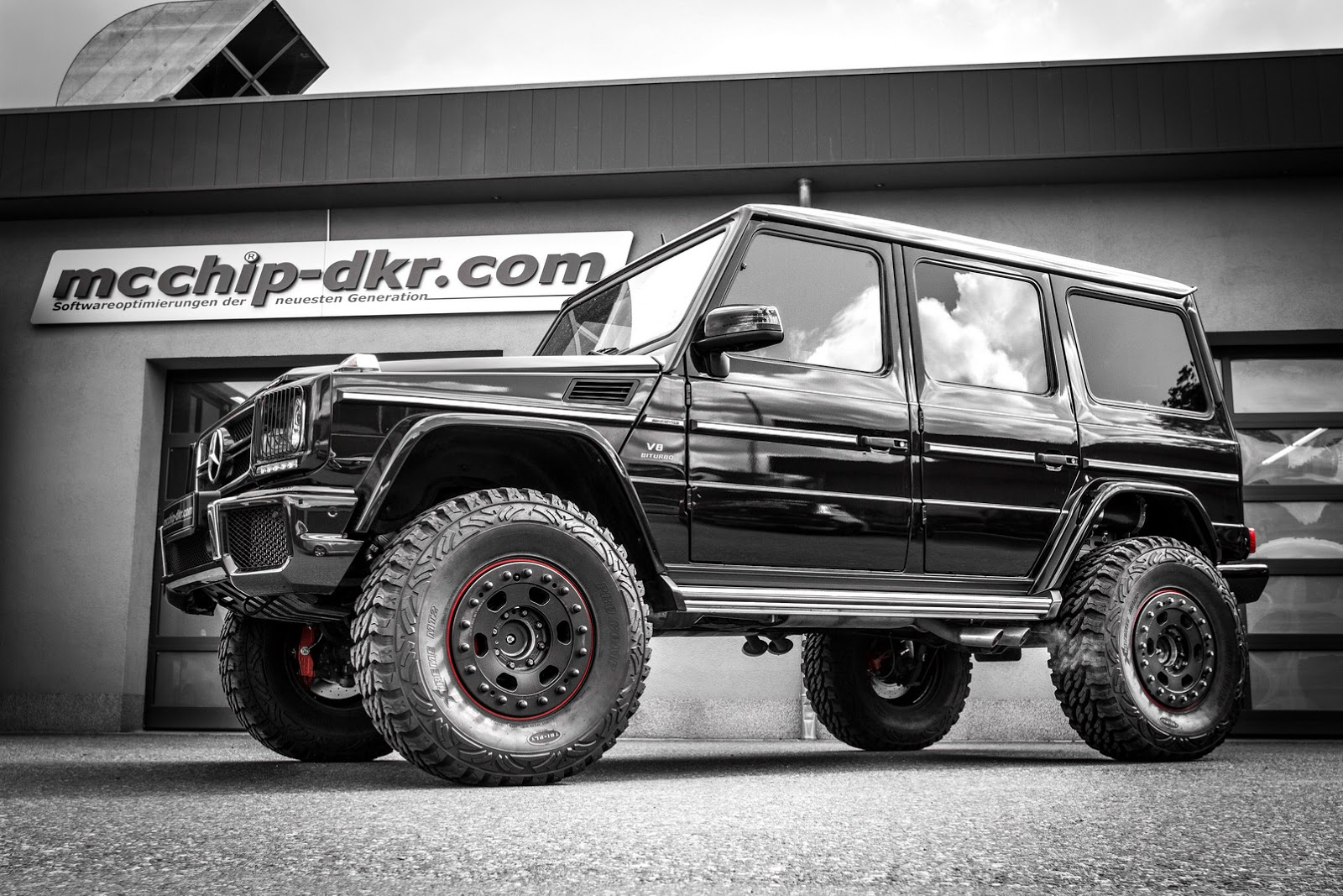 mcchip turns mercedes benz g63 amg into 4x4 of sorts. Black Bedroom Furniture Sets. Home Design Ideas