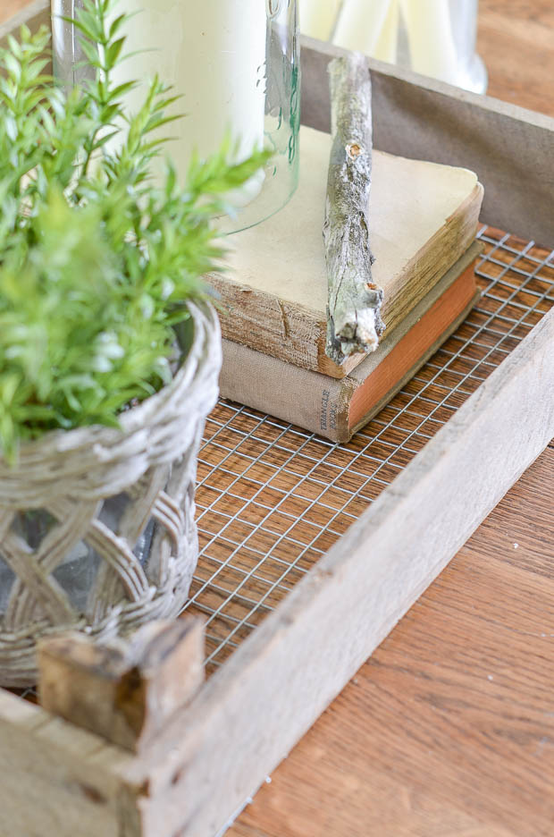 Create your own rustic tray for decorating your home.