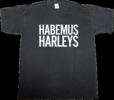 useless religions Bikes Motorcycle harley davidson pope t-shirt ephemeral-t-shirts