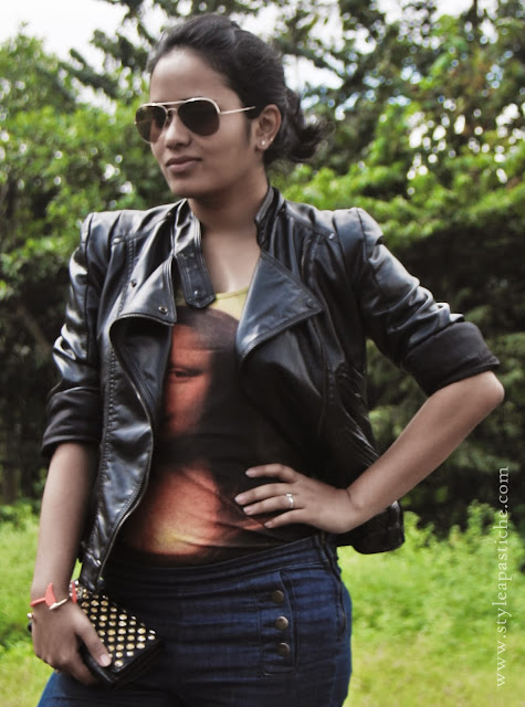 Fall Winter 2013, How to style a Leather Jacket, Monalisa, Punk, Good and bad, Faux Leather Jacket