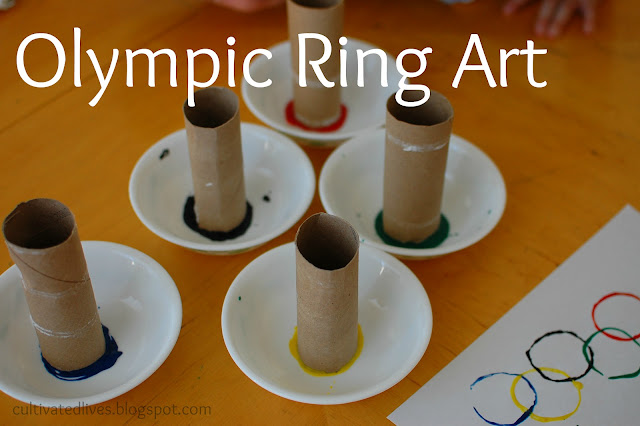 Getting into the Olympic Spirit with some simple art!