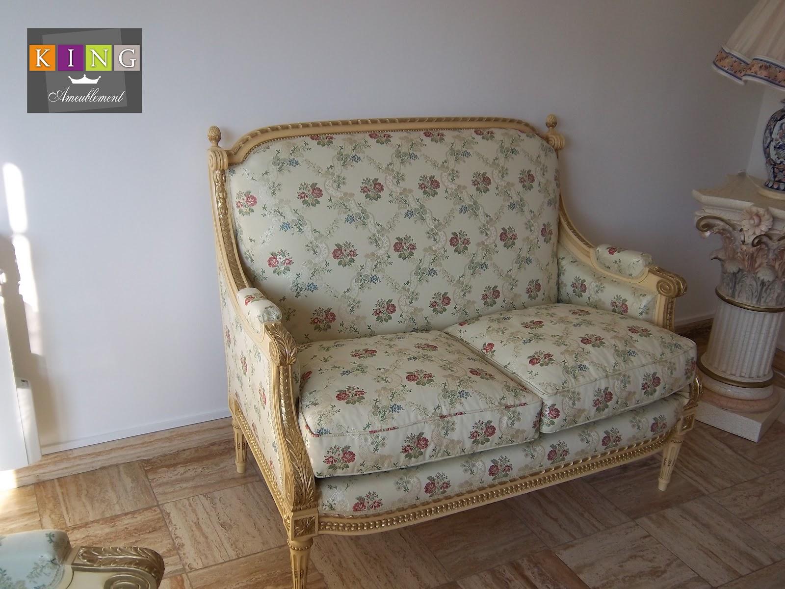 Realisations dressings cuisines salles de bains refection de si ges et meuble - Canape 2 places fauteuil assorti ...