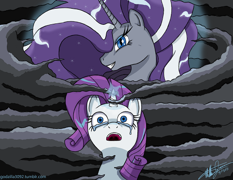 One of my favorite types of story arc is the corruption of a good character and my favorite pony is Rarity. Therefore, it stands to reason, that the newest comic is like, my favorite thing ever.