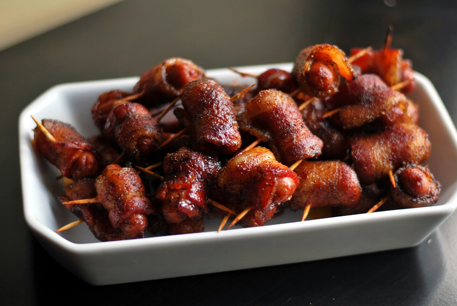 Spicy Brown Sugar Bacon Wrapped Smokies - Aunt Bee's Recipes