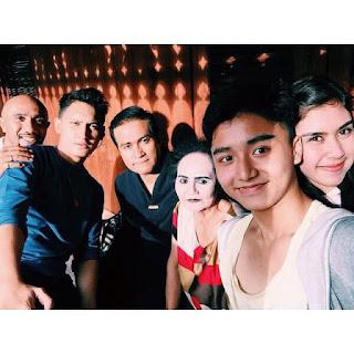 Foto Atuk Alim Dengan Arsya dan pemain 7MH lainnya