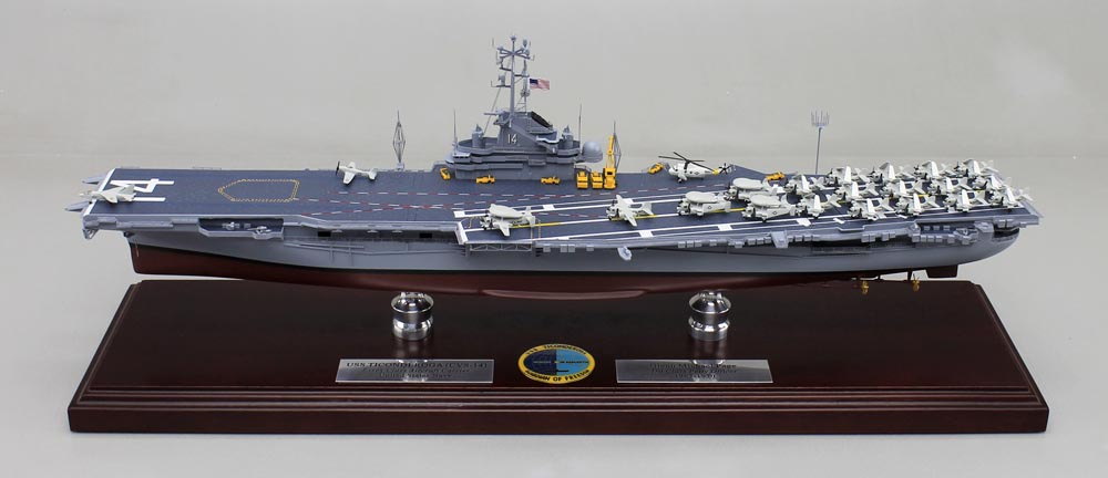 uss ticonderoga  cvn 14 aircraft carrier model
