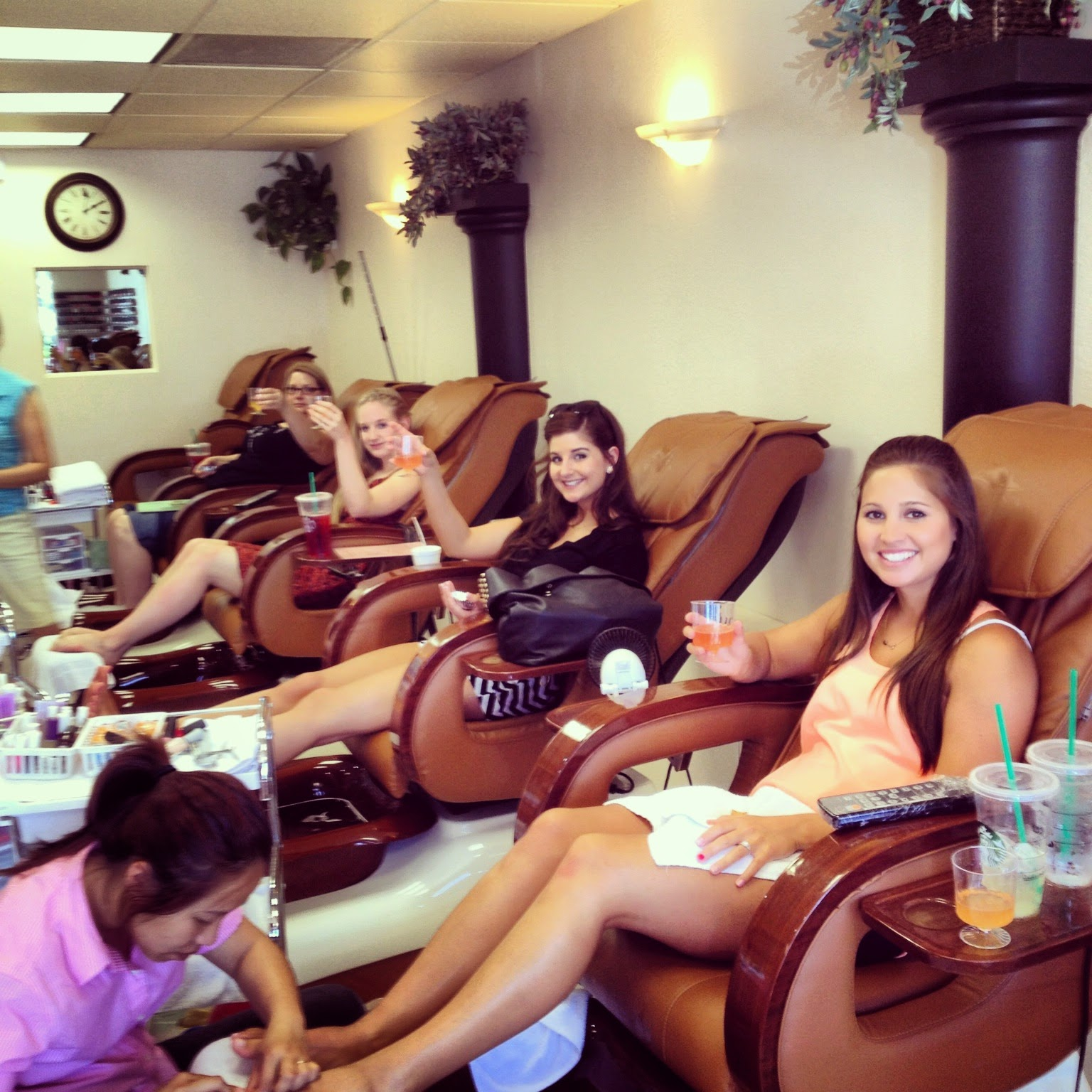 pedicures and cocktails