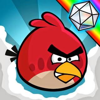 Angry Birds, lámina para colorear