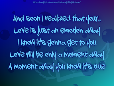 An Emotion Away - Alanis Morissette Song Lyric Quote in Text Image
