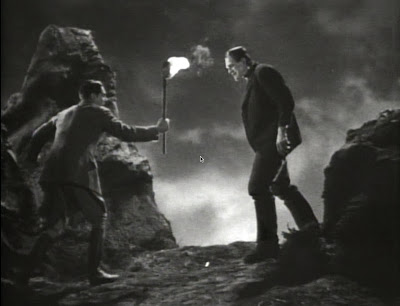 Colin Clive and Boris Karloff in Frankenstein (1931)