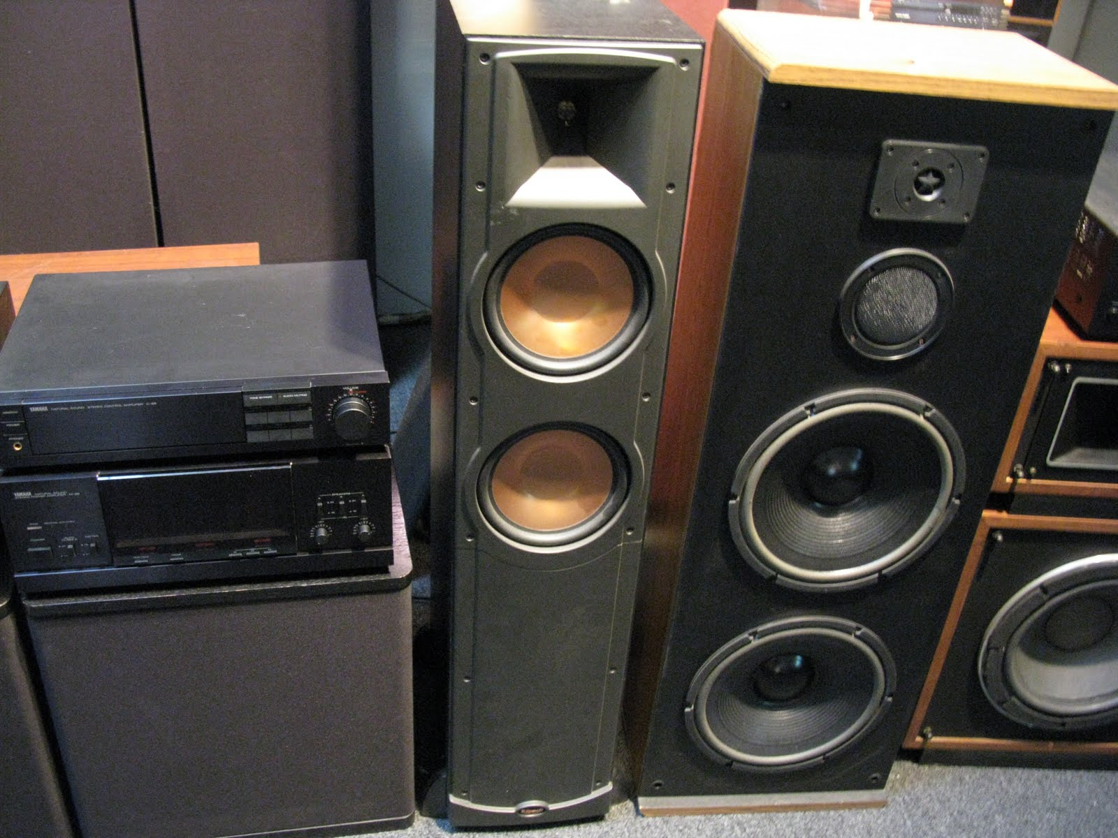 IMG_0049 recycled stereo plus klipsch rf 82 floorstanding speakers $795 RF-82 System Home Theater at bakdesigns.co