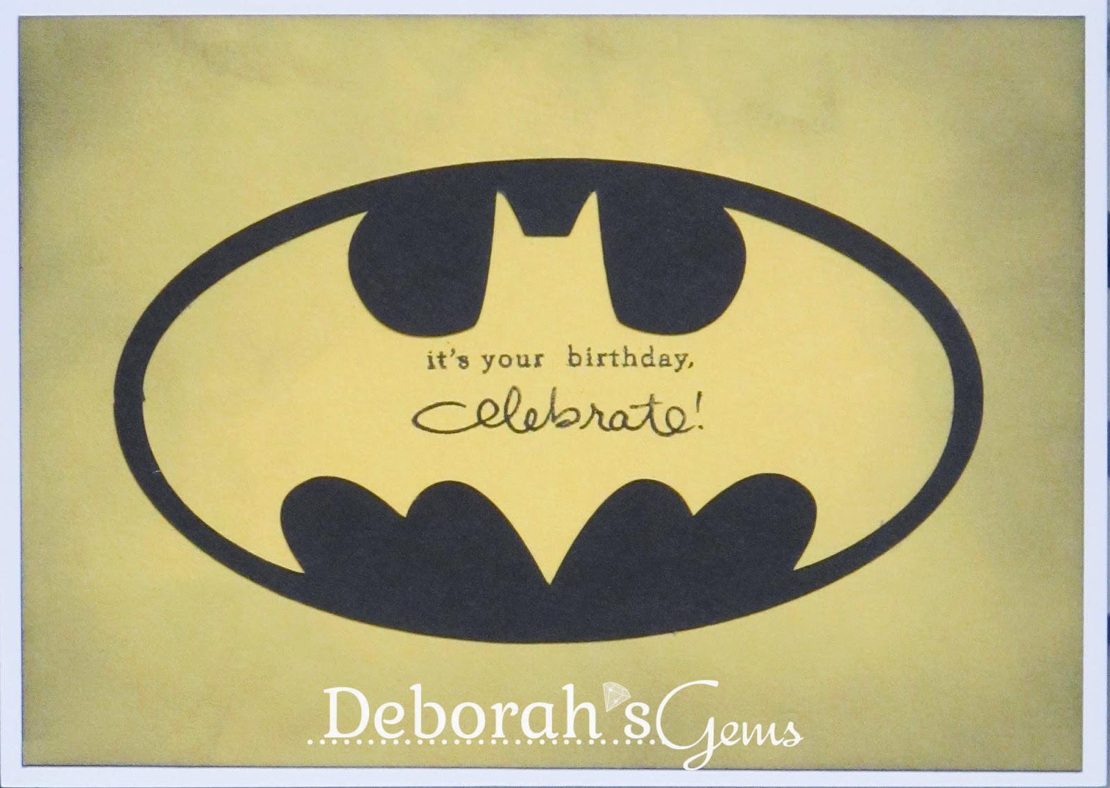 Batman Birthday inside - photo by Deborah Frings - Deborah's Gems