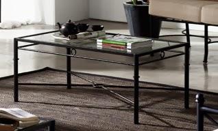mesa sofa, mesa baja, mesa de centro, mesa forja