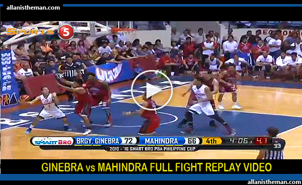Barangay Ginebra defeats Mahindra, 80-76 (FULL REPLAY VIDEO) November 22