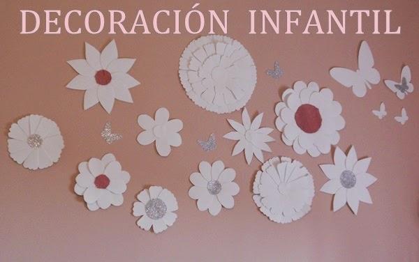 Flores en foami para decorar paredes imagui - Decorar paredes infantiles con goma eva ...