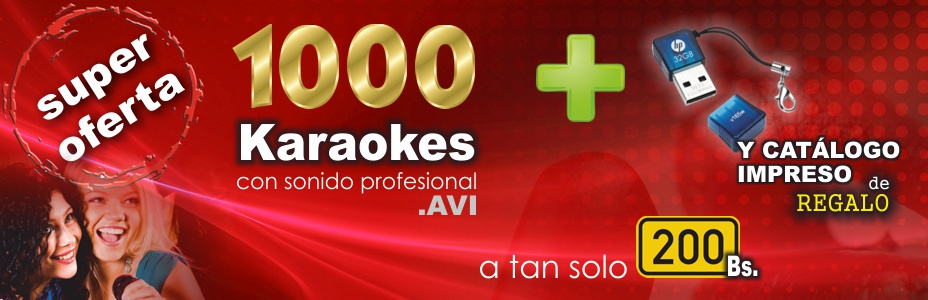 1000 Karaokes en Una memoria Flash de 32 Gb