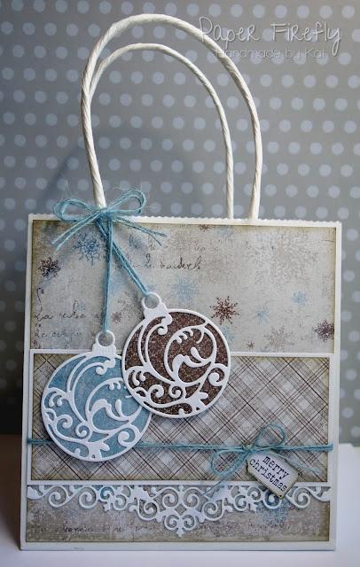 Bauble gift bag using Maja Design papers