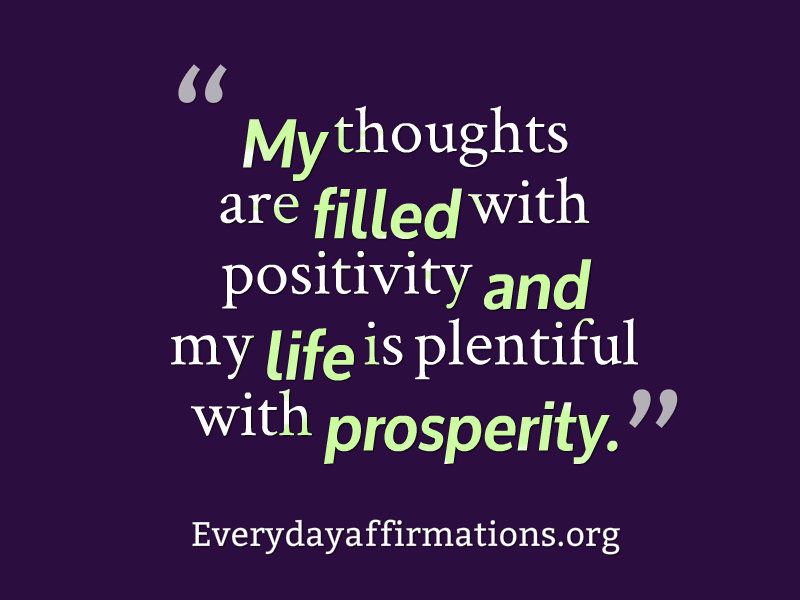 Affirmations for Prosperity, Daily Affirmations 2014