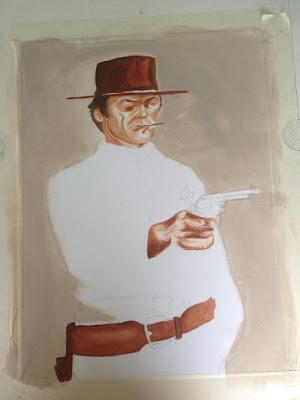 Travail en cours... Du Clint, du Clint, du Clint... Acrylique sur toile Guillaume Néel©