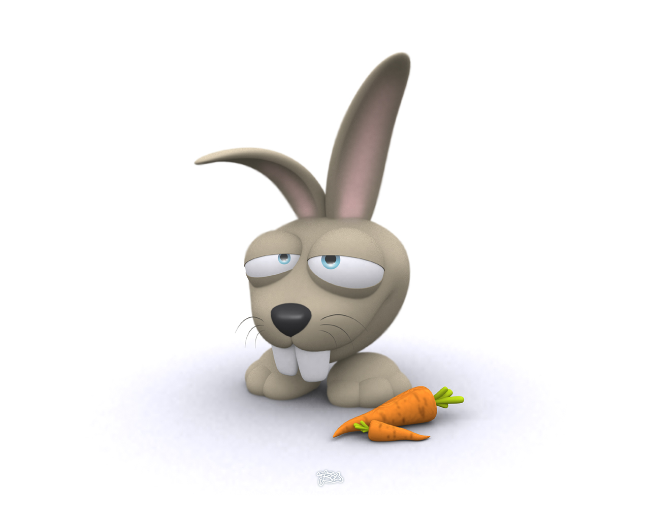 Funny Rabbit Cartoon Wallpaper | Funny Collection World