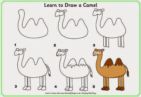 Learn to draw  a camel for kids