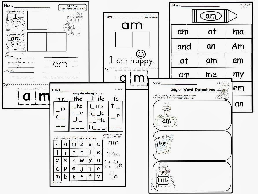 Sneak Freebie! & Kindergarten: love  Young word Lively Peek worksheet sight