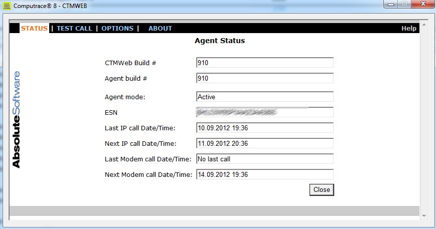 computrace windows agent software for statusoptions etc