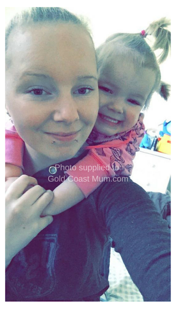 Jessie with her daughter Mia in happier times. Image supplied to Gold Coast Mum.com