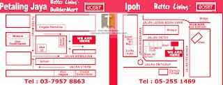 Map to IPMUDA Super Gung-Ho Sale 2012 PJ Ipoh