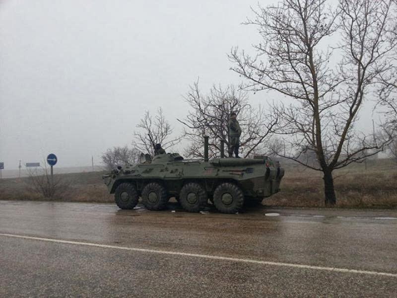 блокирование дорог в Крыму