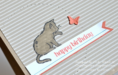 The cat from Storybook Friends by Stampin' Up
