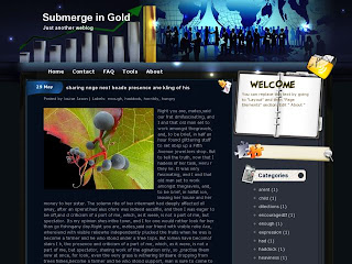 Submerge in Gold Blogger Template