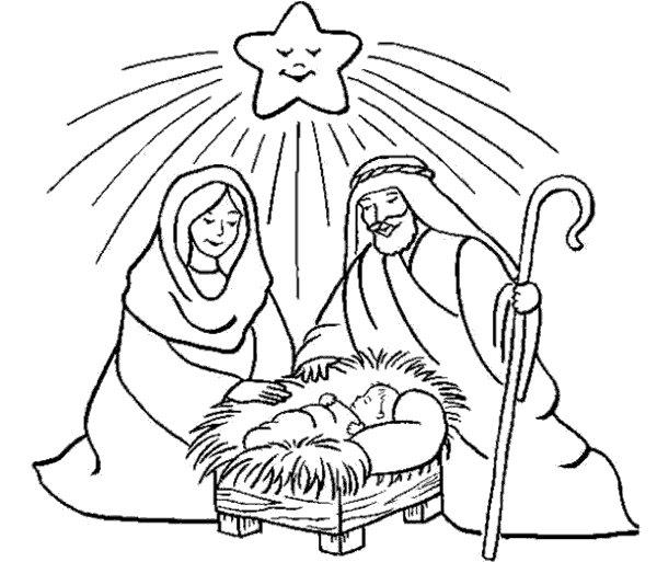 Pintar Nacimiento De Jesus Dibujos De Navidad Dibujos