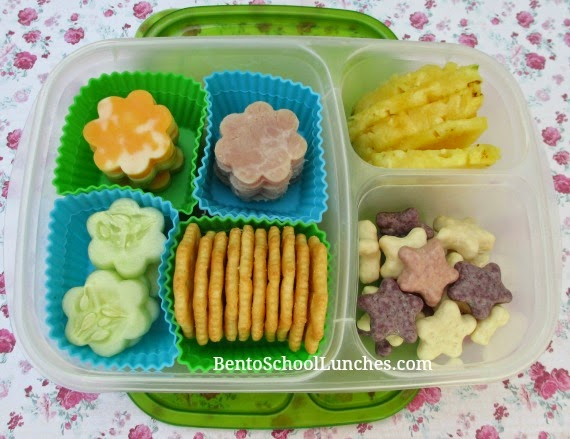 Flower lunchables, bento school lunches