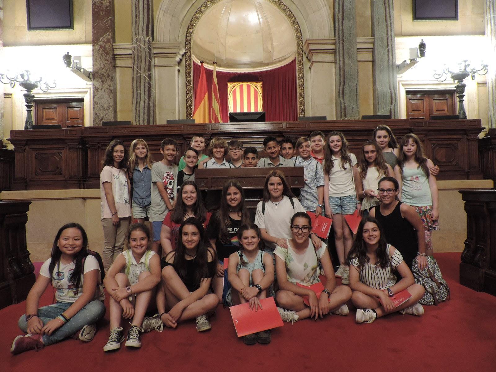 Sortida al Parlament de Catalunya