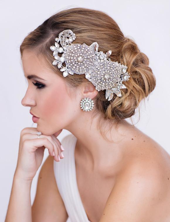 Miranda Bridal Headpiece - www.perlejewellerymakeup.com.au