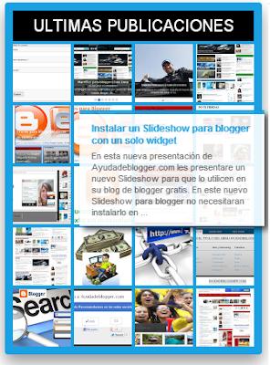 Widgets para blogger