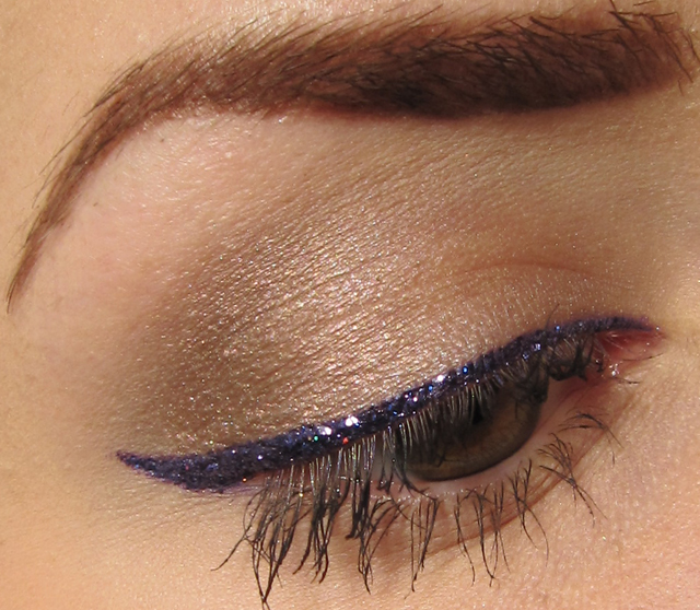 Glitter Is My Crack Neutral Eye Makeup Look With Purple Glitter