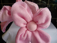 Little puddings baby washcloth flower
