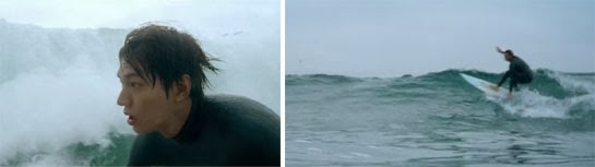 Lee Min Ho as a California surfer boy in The Heirs.