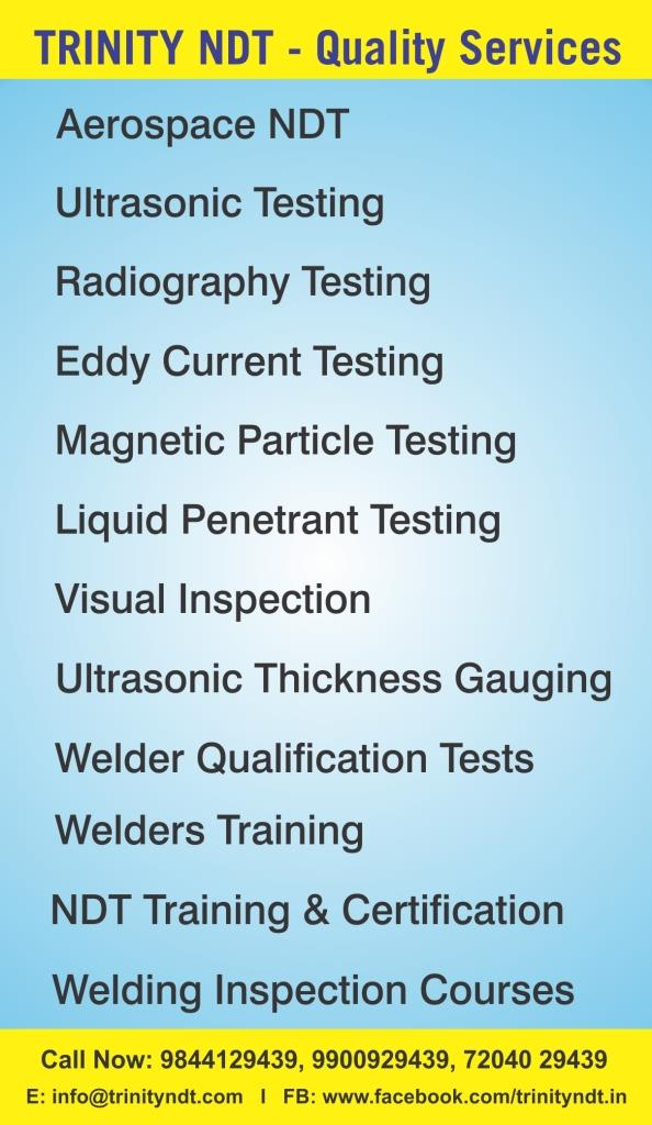 NDT & Weld Inspection Servies - Trinity NDT