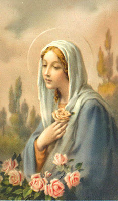 estampita de la Virgen