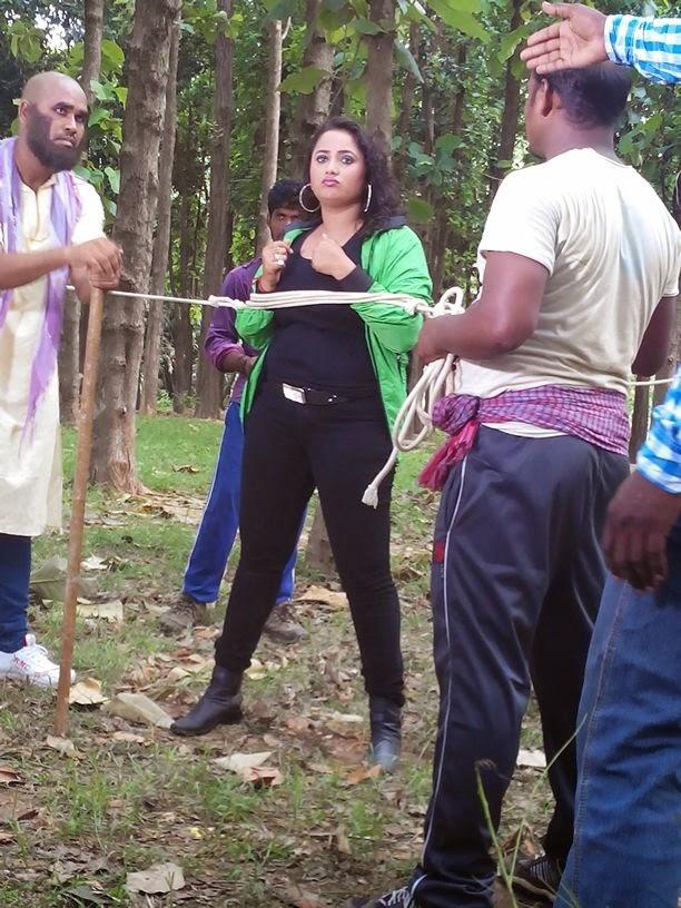 Rani chatterjee Shooting of  Bhojpuri Movie Rani Ki Hukumat Image