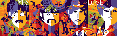 The Beatles Standard Edition Screen Print 4 Piece Set (John, Paul, George & Ringo) by Tom Whalen