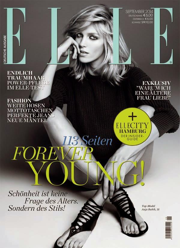Anja Rubik - Elle Magazine, Germany, September 2014