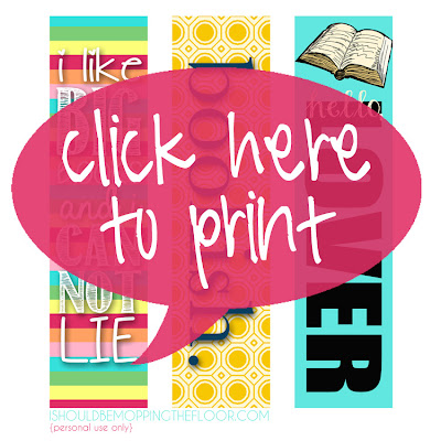Free Printable Bookmarks with Flair. #printable #hellolover #ilikebigbooks #bookish