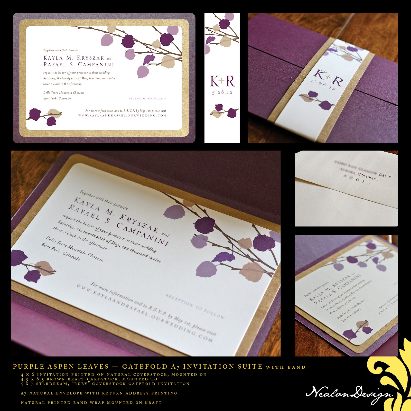 Nealon Design: ASPEN LEAVES Wedding Suite